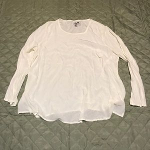 Flax Cream Long Sleeve Blouse Top Size 1G